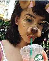 sunglasses,retro,clear,round glasses,round frame glasses