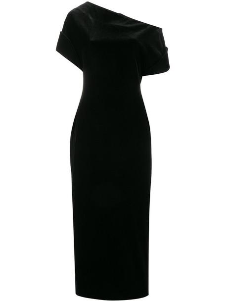 CHRISTOPHER KANE dress women spandex black silk velvet