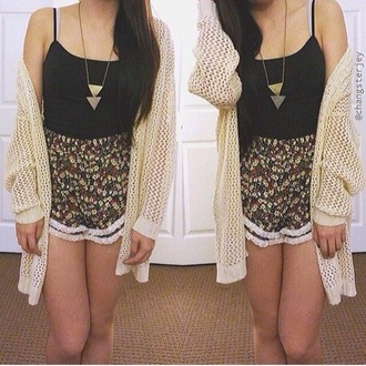 cardigan cream beige cute love knit summer spring tumblr jacket brand designer tumblr outfit i want everything spring outfits spring summer fashion shorts tank top