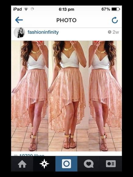 open front skirt