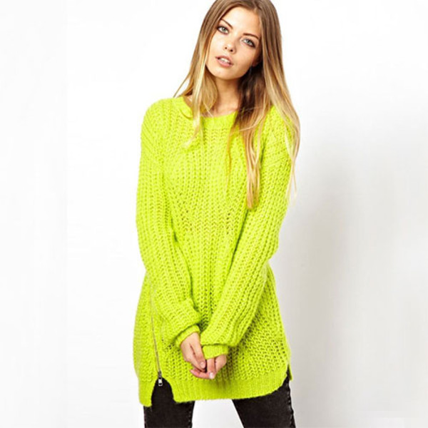 sweater green zip
