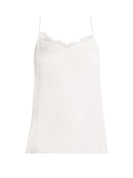 Icons top lace silk satin white