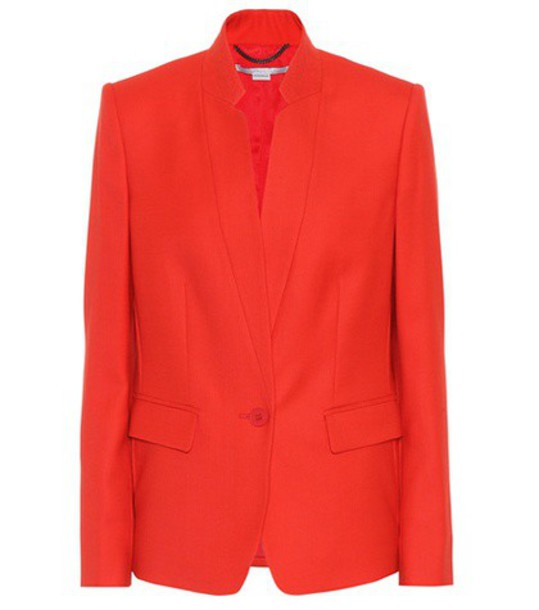 Stella McCartney blazer wool red jacket
