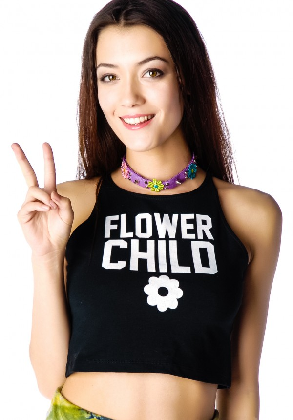 Declared Flower Child Crop Tank Top | Dolls Kill