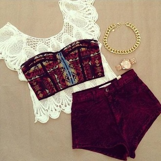 top white crop tops knitted
