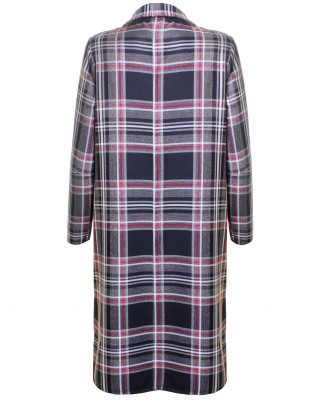 LOVE Black And Grey Tartan Long Boyfriend Jacket - In Love With Fashion
