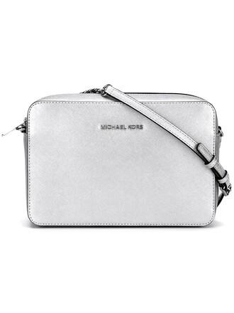 women bag crossbody bag grey metallic