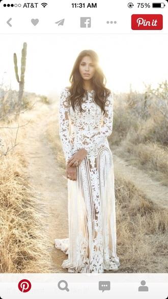 white wedding dress lace dress