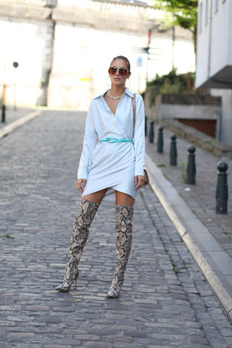 from brussels with love blogger shirt dress bag shoes shorts