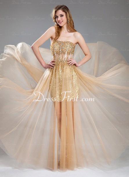dress golden maxi-dress formals/prom.
