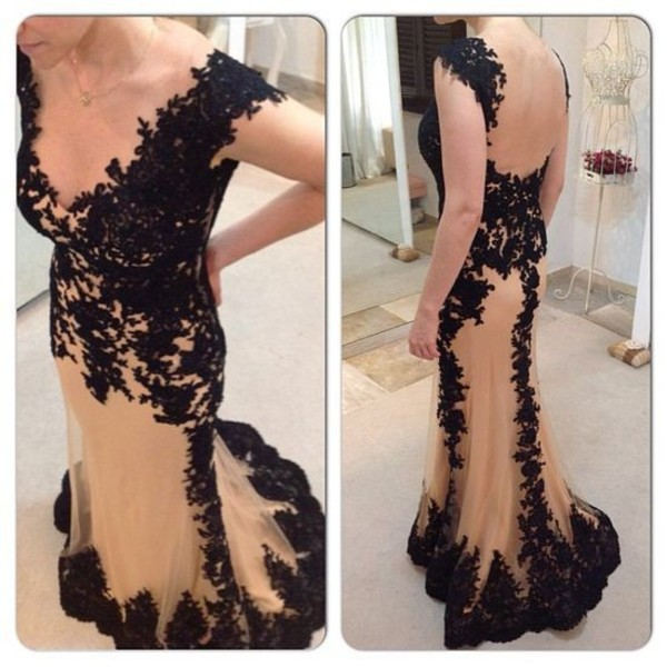 dress wonderful flowers lace dresses champange dresses sheath dresses trumpet dresses sexy dress nude dress