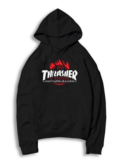 a52d348d28a0 Trend Fashion Thrasher Huf Worldwide Black Hoodie