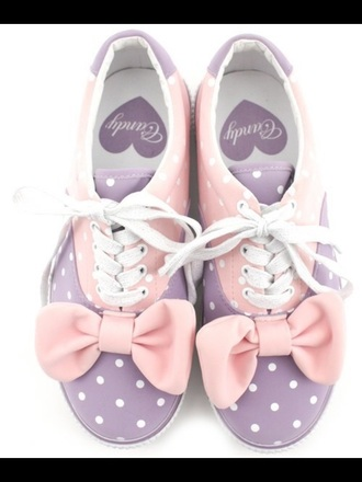 shoes pastel pink candy purple shoes bows cute shoes perfecto