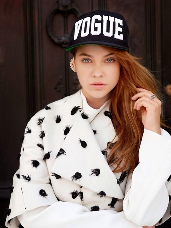 177ac7b980ec7 Black White Embroidered VOGUE Snap Back Hat   Amiclubwear Hat Online ...