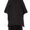 Step-hem wool and cashmere-blend cape