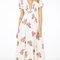 Floral garden stitched maxi dress