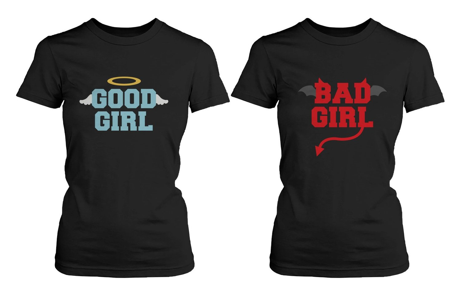 Amazon.com: BFF Matching Shirts - Good Girl Bad Girl Best Friends: Clothing