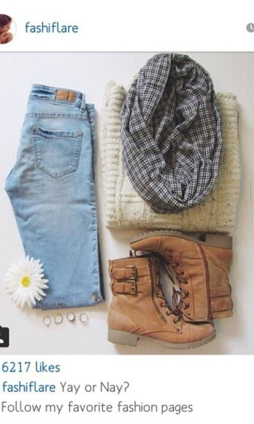 scarf shoes