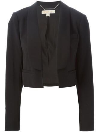 blazer cropped women spandex black jacket