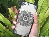 phone cover,iphone case,iphone henna case,henna design,mandala,mandala iphone case,black,iphone mandala case,black case,clear case,clear iphone case,iphone 6 case