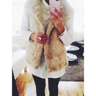 jacket gilet fur fur coat