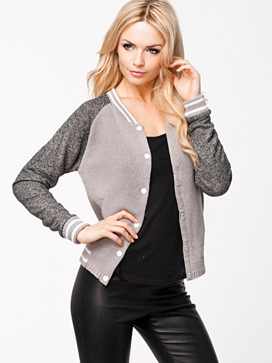 Short Bomber Jacket - Only - Ash - Jackets And Coats - Clothing ...