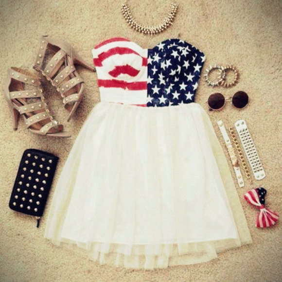 top skirt dress summer u.s.a