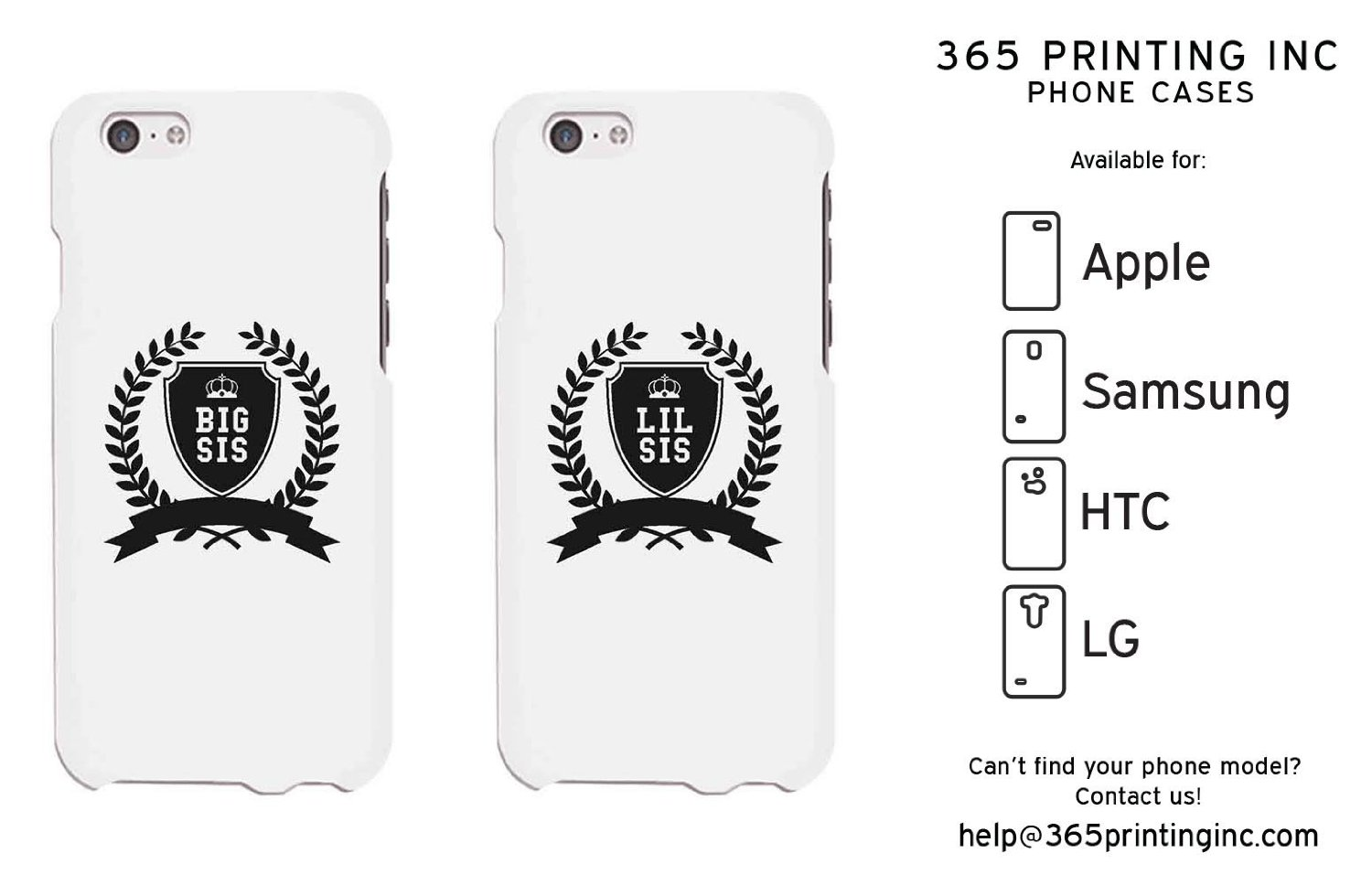Amazon.com: Matching Phone Cases For Sisters - iPhone 4~6P, Galaxy S3~6, Note4, G3, HTC M8: Cell Phones & Accessories