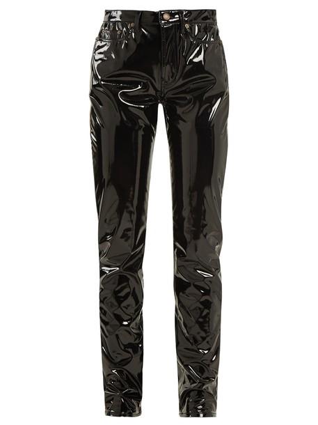 Saint Laurent vinyl black pants