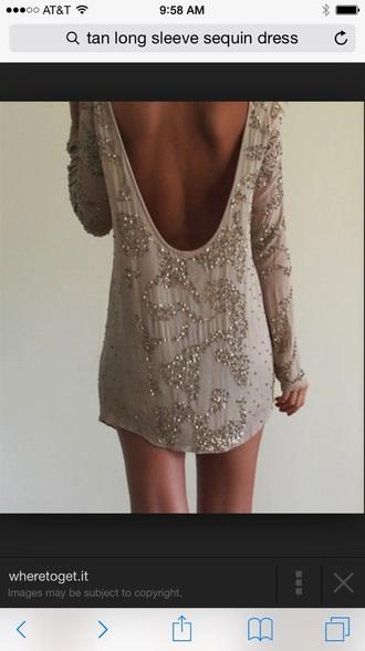 dress nude dress sequin dress