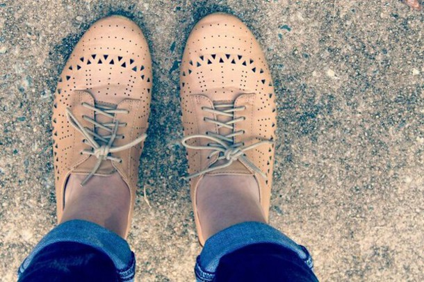 shoes tan shoes oxfords flats derbies beige
