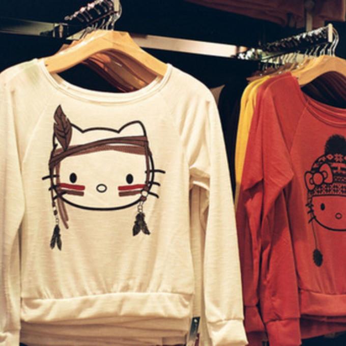 Hello Kitty Pullover Hoodie Hello Kitty Pullover