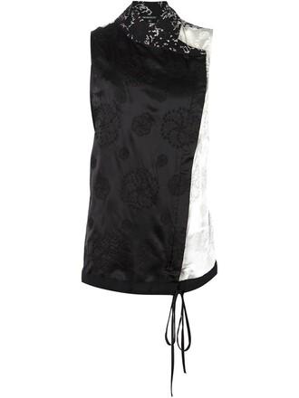 kimono top sleeveless black
