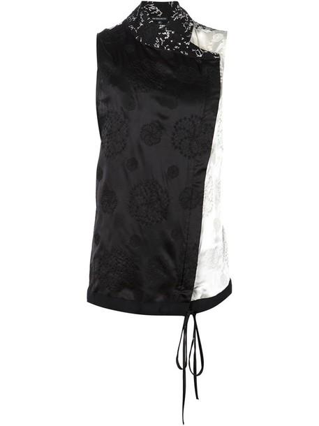 ANN DEMEULEMEESTER kimono top sleeveless black