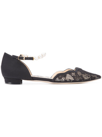 women leather black silk shoes