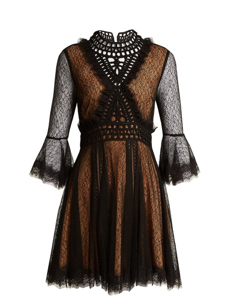 Jonathan Simkhai dress lace dress ruffle lace black