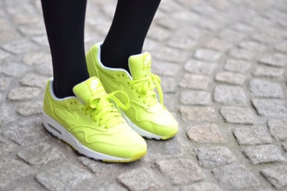 shoes yellow neon nike airmax