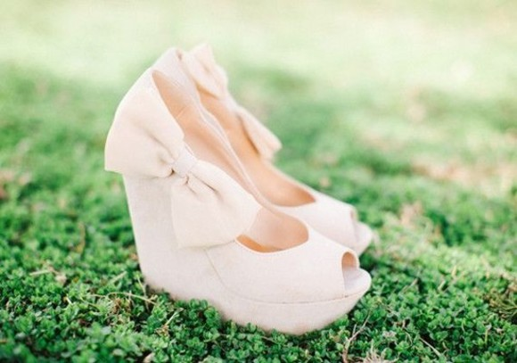 ivory shoes slippers bow