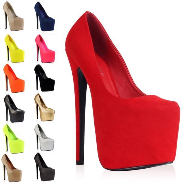 shoes, high heels, platform high heels