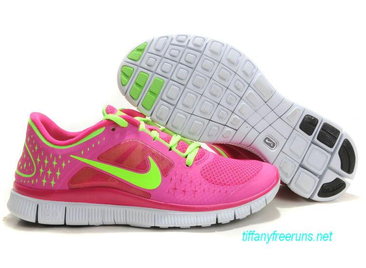 Womens Nike Free Runs 3 Fireberry Electric Green Pro Platinum Electric Green Shoes [Tiffany Free Runs 557]-$51.84 Tiffanyfreeruns.net