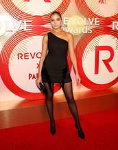 dress,little black dress,one shoulder,one shoulder dress,olivia culpo,celebrity,mini dress