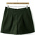 Green High Waist Zipper Slim Shorts - Sheinside.com