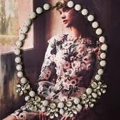 jewels,necklace,statement necklace,rhinestone necklace,jcrew inspired,collar necklace,bib necklace,gemstone