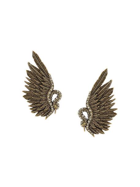 lanvin women earrings grey metallic jewels