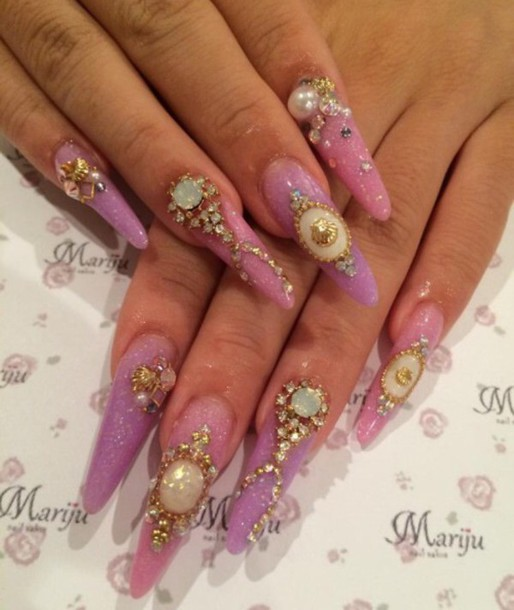 nail accessories, nails, cute, grly, girly, instagram, tumblr ...