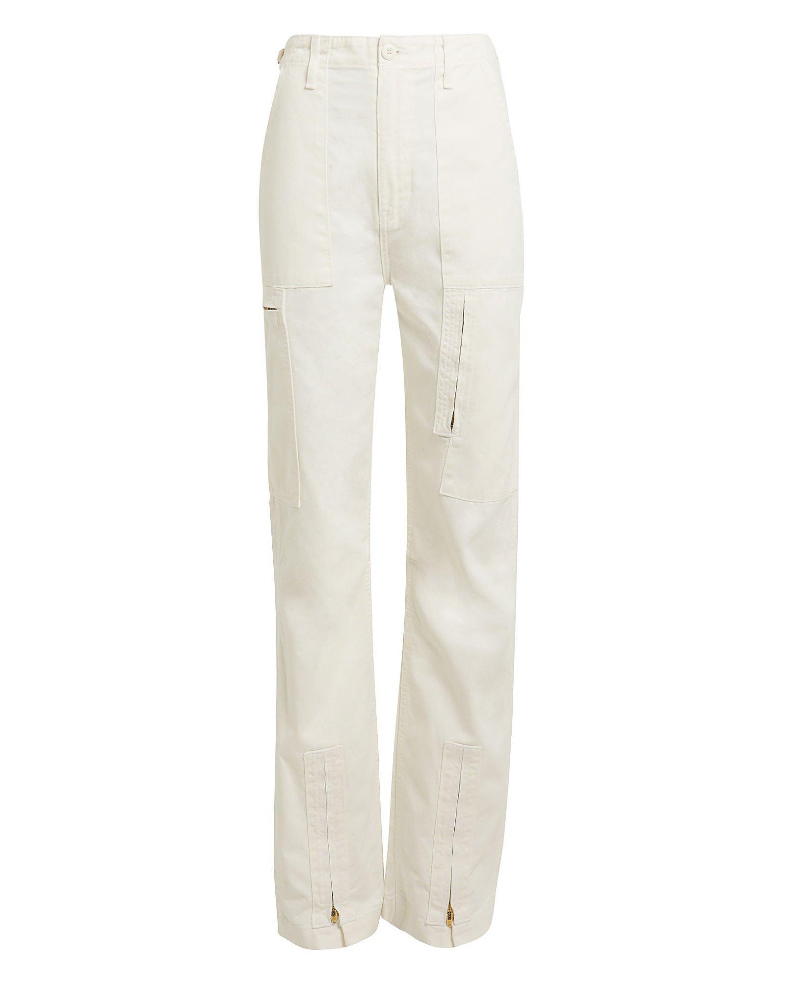 Dirty White Cargo Pants