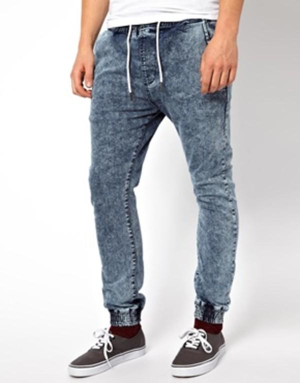 Amazing Zanerobe Munk Trunk Denim Jogger Pants In Blue For Men Dirty Indigo