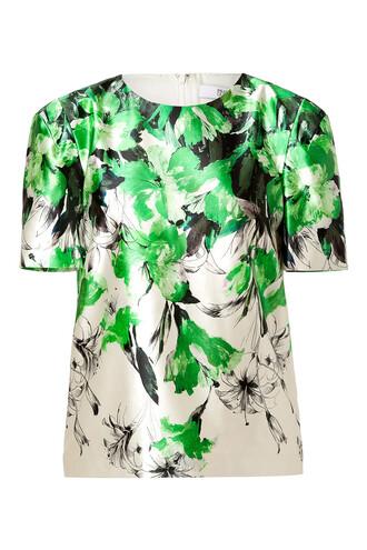 top cotton silk green