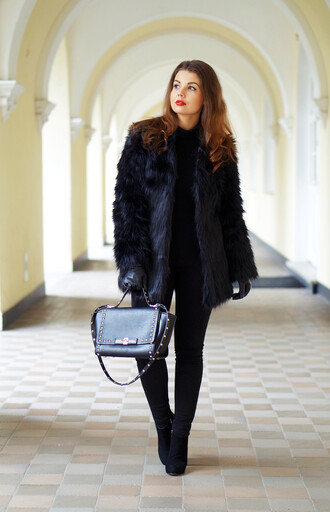 a piece of anna blogger bag winter coat shoes pants sweater