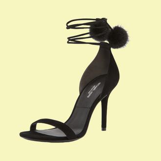 shoes black heels heels strappy heels michael kors